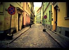 Cobblestones in Riga, Latvia